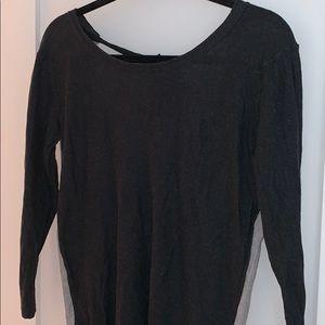 Dark and light grey long sleeve sweater